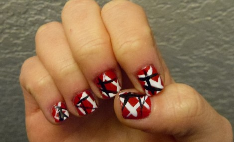 Van Halen Frankenstein design nails