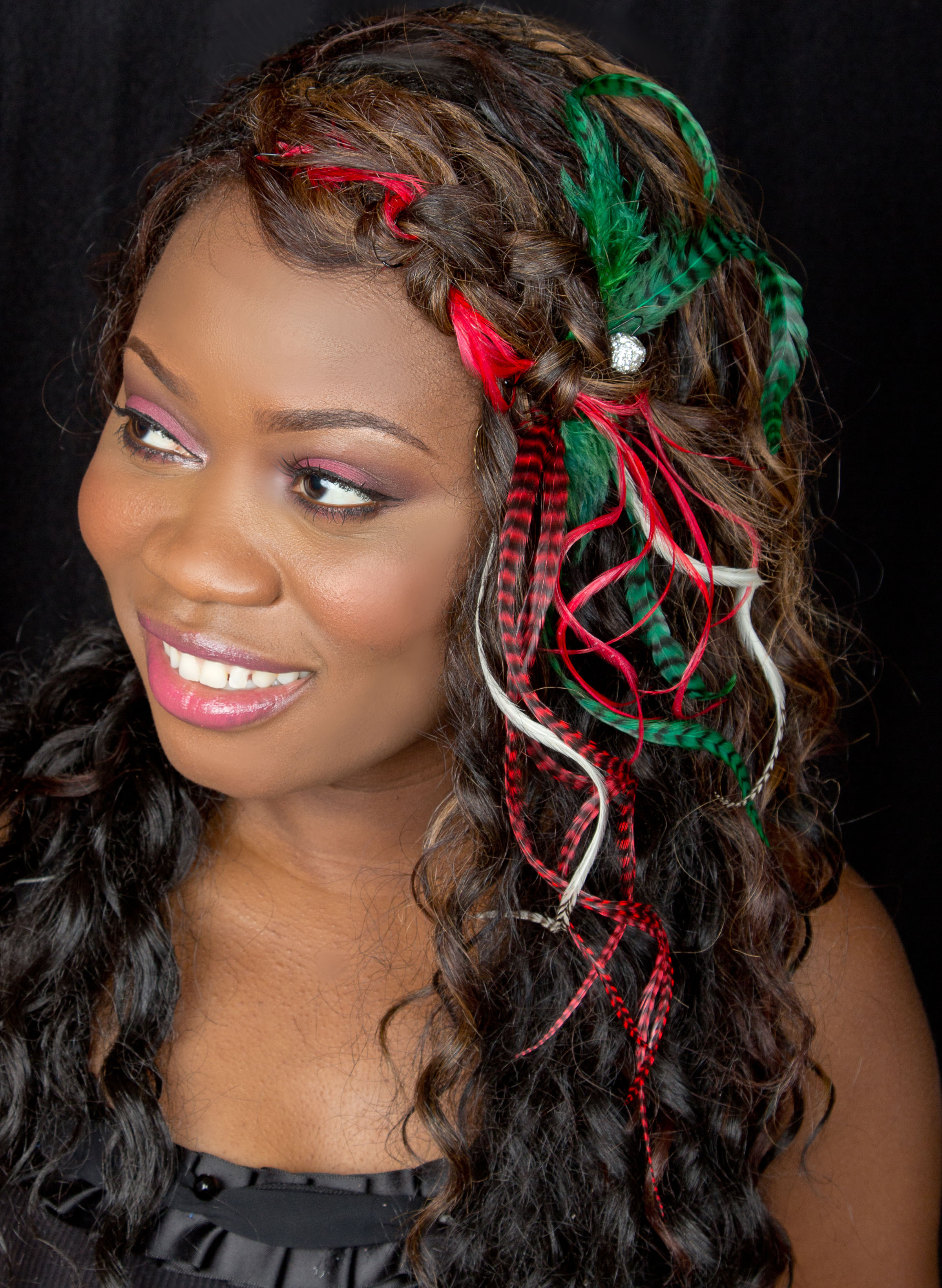 Holiday Hair Feather Extensions You Can Have It All