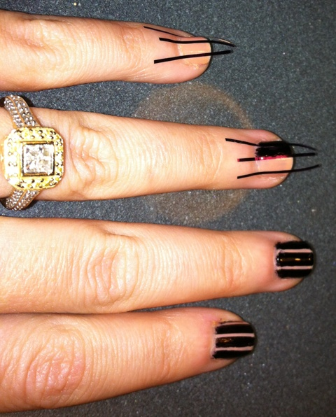 Nail Art Using Painters Tape: Photos And Simple