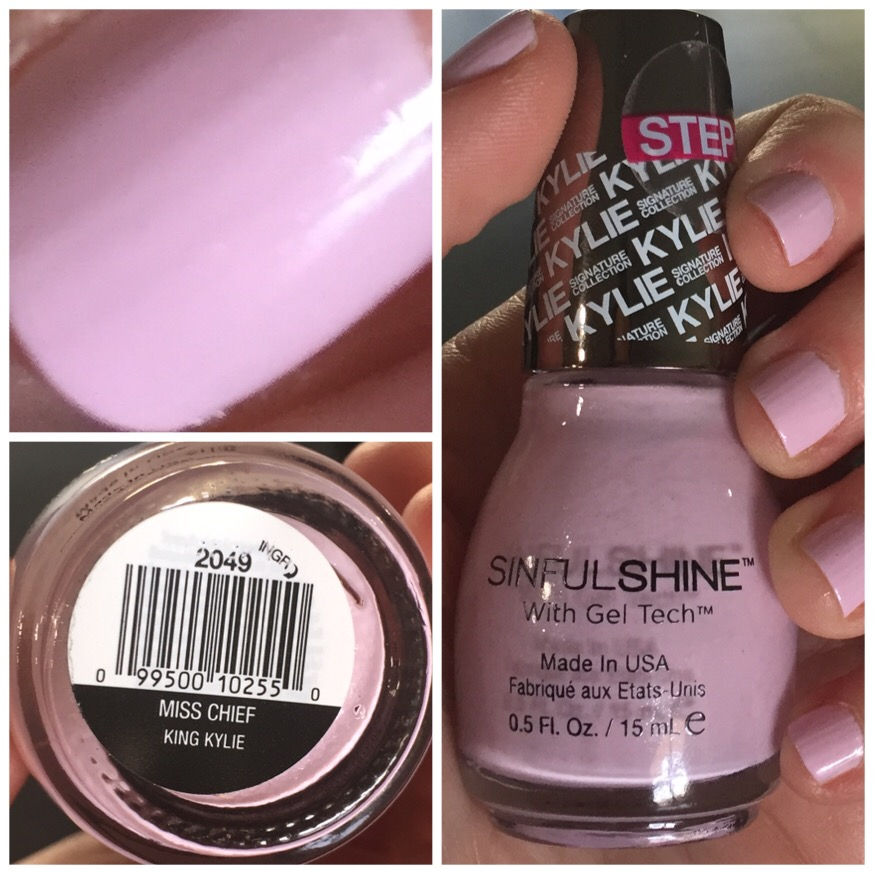 SinfulColors SinfulShine Kylie Jenner collection review Miss Chief ...